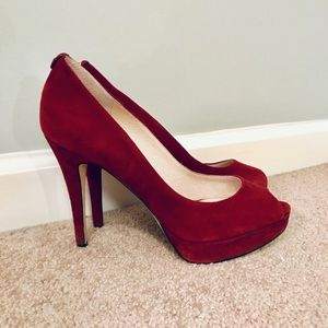 Maroon/Red Michael Kors open toed heel